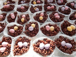 Healthy Honey Chocolate Rice Crispy Nests