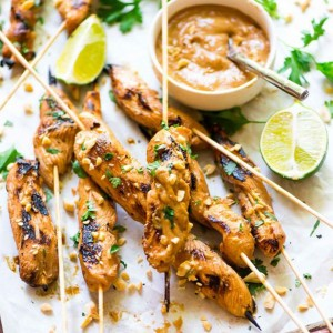 Satay Chicken with Peanut Sauce